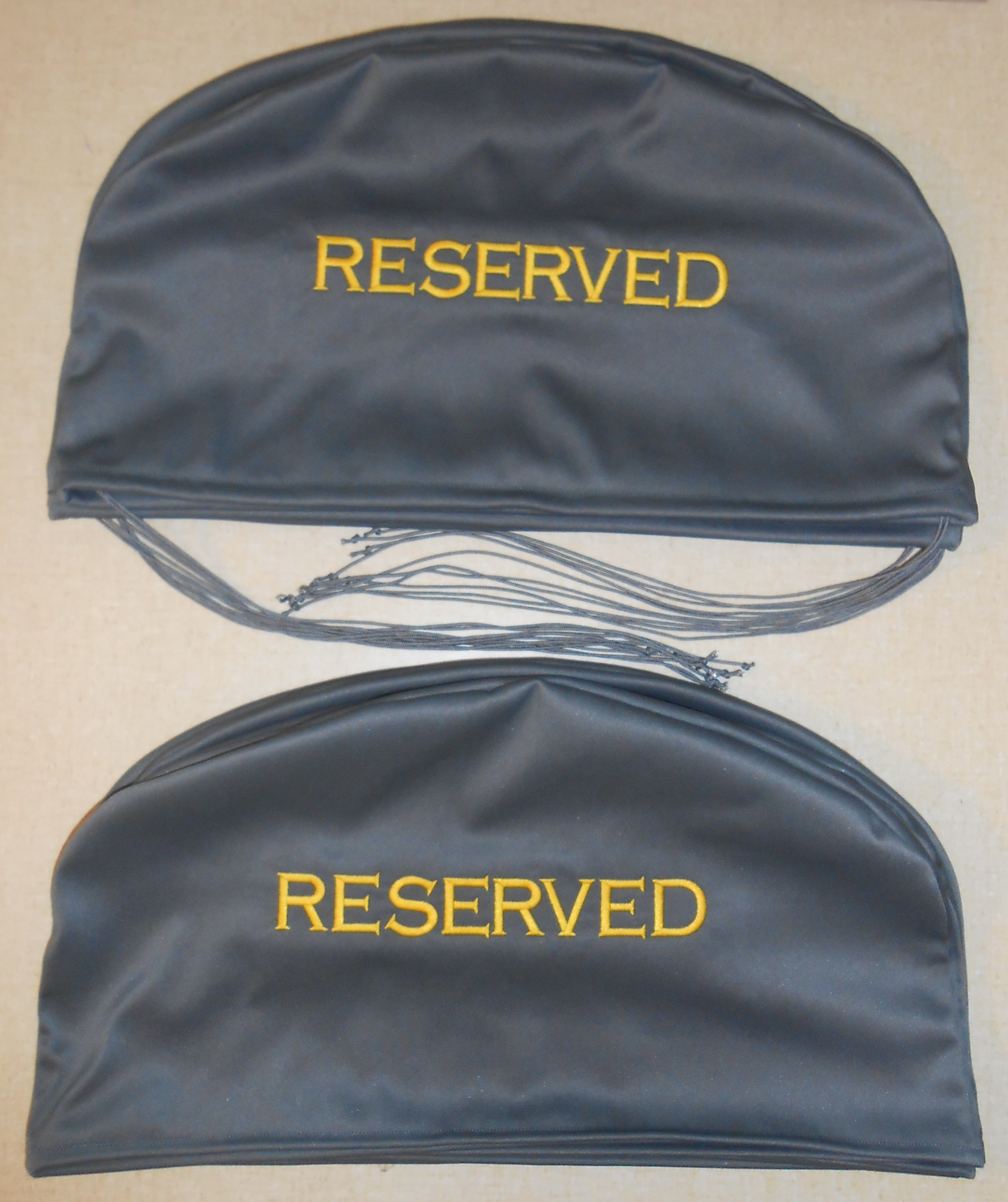 Charcoal Yellow Seat Covers
